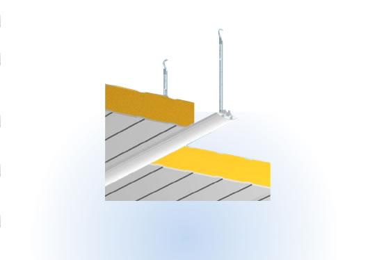 Perfil omega para sustentación de techos en cámaras frigoríficas