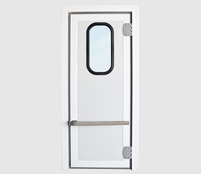 Polyethilene swing door