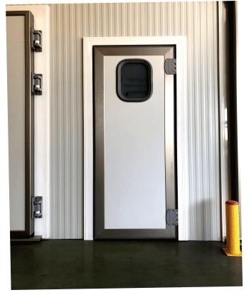 Rigid swing refrigerating door
